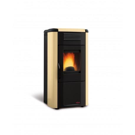 Poêle à granulés de bois en acier étanche - Marque Extra-Flamme - Modèle Viviana