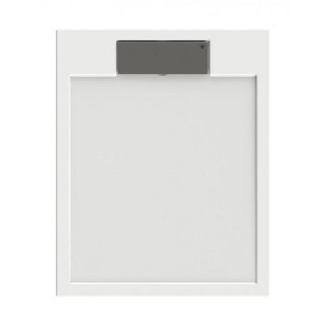 Receveur de douche extra plat  en puretex avec bonde centrale - Marque Aquarine - Modèle SERIO carré