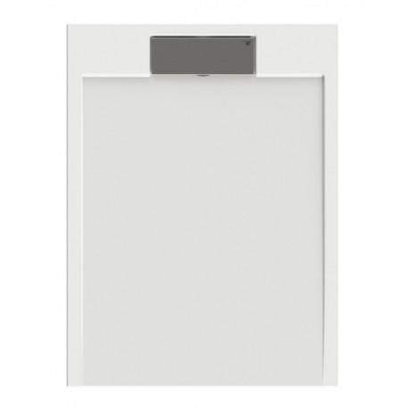 Receveur de douche extra plat  en puretex avec bonde centrale - Marque Aquarine - Modèle SERIO rectangle