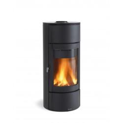 Poêle à bois en fonte - Marque Nordica - Modèle Fortuna Steel