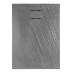 Receveur de douche extra plat 120x90x3.5 cm en matériau de synthèse - Marque Aquarine - Modèle Rockstone rectangle
