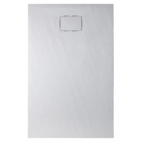 Receveur de douche extra plat  en puretex avec bonde centrale - Marque Aquarine - Modèle Rockstone  carré