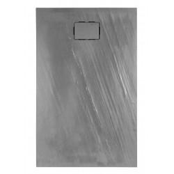 Receveur de douche extra plat 140x90x3.5 cm en matériau de synthèse - Marque Aquarine - Modèle Rockstone rectangle