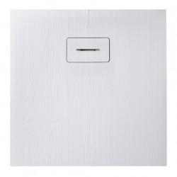 Receveur de douche extra plat 90x90x3.5 cm en matériau de synthèse - Marque Aquarine - Modèle Woodstone carré
