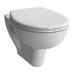 Pack WC au sol de marque VITRA modèle NORMUS avec cuvette carré, double abattant
