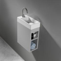 Lave-mains avec meuble de rangement rectangulaire - Marque AeT - Modèle Acquafredda
